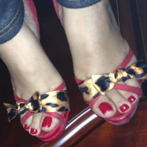 Paprika Leopard Print with red Sandal High Heel
